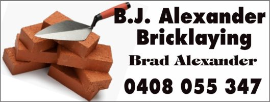 B J Alexander Bricklaying Logo