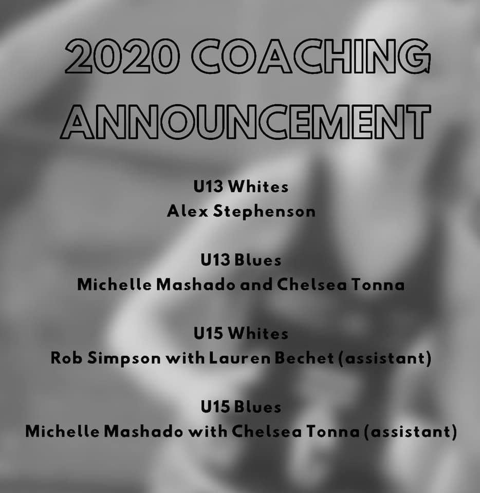 2020 Netball Coaching Announcements