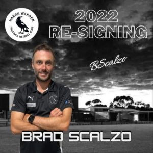 Brad Scalzo joins us once again to take on the role of player/coach for season 2022 🖤🤍 Scalz brings a plethora of knowledge on and off the field & is a highly valued member of the club. We're excited to see what more he can give next year 💪🏼 #narrelove