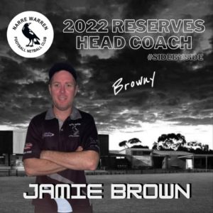 Browny has stepped it up for season 2022, taking on the role of the Reserves Head Coach. 🖤🤍 From coaching the youngsters of the club in recent years, previously being the reserves assistant coach and having also been a past player, Jamie knows the ins and outs of the game and we're looking forward to seeing his contribution in 2022.
