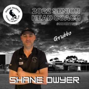 We are very pleased to announce that Shane 'Grubbo' Dwyer is returning as Senior Coach for 2022, with having extensive ties to the club. From being a multiple premiership past player & previous under 18s coach at the club, Shane is the definition of a loyal club person. 🖤🤍 He has some incredible football knowledge, having worked along side Chris Toner as his assistant coach for a number of years and being apart of the many successes from the club, including a couple of senior flags 🏆 We can't wait to see him take the boys all the way in season 2022