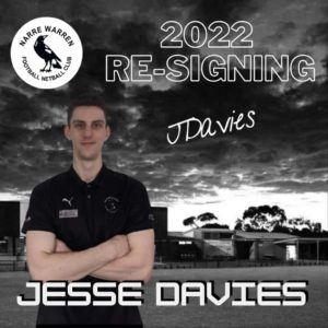 Next up we have Jesse Davies signing on for season 2022! We look forward to having him be apart of the back 6 yet again and repping the black and white