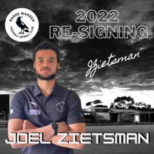 Another signing with Joel Zietsman chucking on the black and white jumper once again for season 2022 🖤🤍 With a ripper left foot and height in the backline, there's plenty to look forward to when watching Zeita on the field 🤩 #narrelove