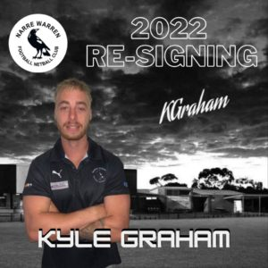 We welcome back one of the twins, although we're not sure which one this is 🤔 He plays primarily in the backline in the pocket or as a flanker, and some would say his off field talents are maybe even better than his on field ones 🤪 The trickster twins tried to fool me, but i knew this was Kyle because of his smaller arms 💪🏼 Welcome back Kyle Graham keen to see what you can do for the club on and off the field next season 🖤🤍 #narrelove