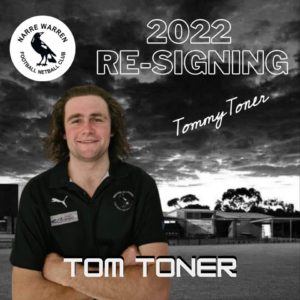 Our next signing is none other than Tom Toner! A household name around the club & another season from Tom up forward kicking snags is something we can look forward to in 2022! 🏉